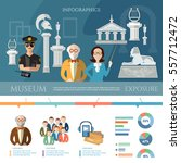 museum infographics  history... | Shutterstock .eps vector #557712472