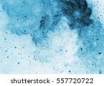 Abstract Blue Sparkles And...