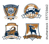 hunting icons and vector hunt...   Shutterstock .eps vector #557723662