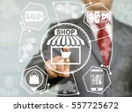 store shopping web computer... | Shutterstock . vector #557725672