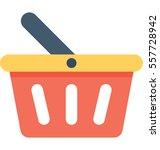 shopping basket vector icon   Shutterstock .eps vector #557728942