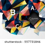 polygonal triangle abstract... | Shutterstock .eps vector #557731846