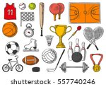 sport  and games items of... | Shutterstock .eps vector #557740246