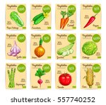 farm vegetables price cards of... | Shutterstock .eps vector #557740252