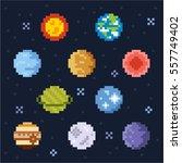 plants pixel vector... | Shutterstock .eps vector #557749402