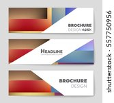abstract vector layout... | Shutterstock .eps vector #557750956