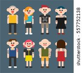 tattoo people character vector... | Shutterstock .eps vector #557752138