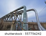 the pipe and valve oil fields  | Shutterstock . vector #557756242