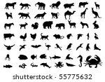 animal black silhouettes | Shutterstock .eps vector #55775632