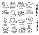 business management icons in... | Shutterstock .eps vector #557757826