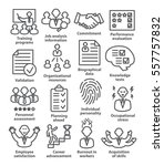 business management icons in... | Shutterstock .eps vector #557757832