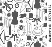 set of atelier icons hand drawn ... | Shutterstock .eps vector #557769892