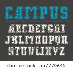 slab serif font with contour... | Shutterstock .eps vector #557770645