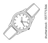 classic wrist watch icon in... | Shutterstock .eps vector #557771566