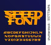 speed alphabet font. effect... | Shutterstock .eps vector #557773696