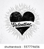 valentine's day with love heart ... | Shutterstock .eps vector #557774656