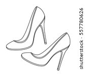 shoes with stiletto heel icon... | Shutterstock .eps vector #557780626
