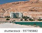 dead sea  israel   april 02 ... | Shutterstock . vector #557785882