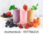 three various protein... | Shutterstock . vector #557786215