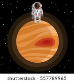 astronaut standing on jupiter near the great red spot