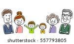 third generation family ... | Shutterstock .eps vector #557793805