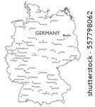 map of germany   monochrome... | Shutterstock . vector #557798062