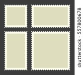 blank postage stamps set on... | Shutterstock . vector #557800678