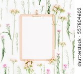 clipboard mock up and... | Shutterstock . vector #557804602