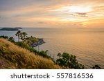 promthep cape is a mountain of... | Shutterstock . vector #557816536