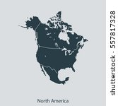 map of north america | Shutterstock .eps vector #557817328
