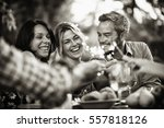 a group of friends having fun... | Shutterstock . vector #557818126