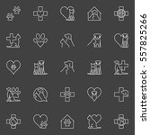 pet and veterinary line icons.... | Shutterstock .eps vector #557825266