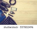 beautiful casual men fashion... | Shutterstock . vector #557832496