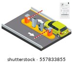 isometric parking payment... | Shutterstock .eps vector #557833855