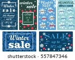 set colorful background posters ... | Shutterstock .eps vector #557847346