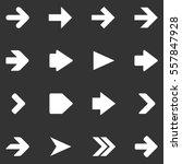 arrow icon set on white
