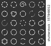 circle arrows icon set | Shutterstock . vector #557848012