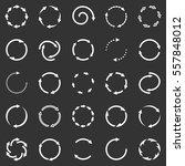 circle arrows icon set | Shutterstock . vector #557848012