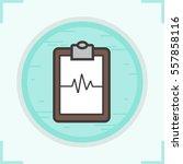 cardiogram clipboard color icon.... | Shutterstock .eps vector #557858116