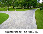 path through the landscaped park | Shutterstock . vector #55786246