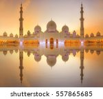 sheikh zayed grand mosque at... | Shutterstock . vector #557865685