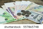banknote or bill and paper... | Shutterstock . vector #557865748