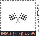 racing flag icon flat. simple... | Shutterstock .eps vector #557867596