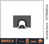 road tunnel icon flat. simple... | Shutterstock .eps vector #557868016