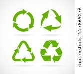 recycled cycle arrows vector... | Shutterstock .eps vector #557869276