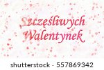 happy valentine's day text in... | Shutterstock . vector #557869342