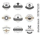 vintage logos design templates... | Shutterstock .eps vector #557871235