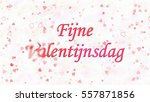happy valentine's day text in... | Shutterstock . vector #557871856