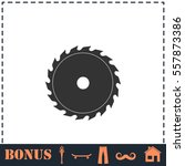 industrial saw icon flat.... | Shutterstock .eps vector #557873386