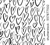 seamless pattern with hearts.... | Shutterstock .eps vector #557877532